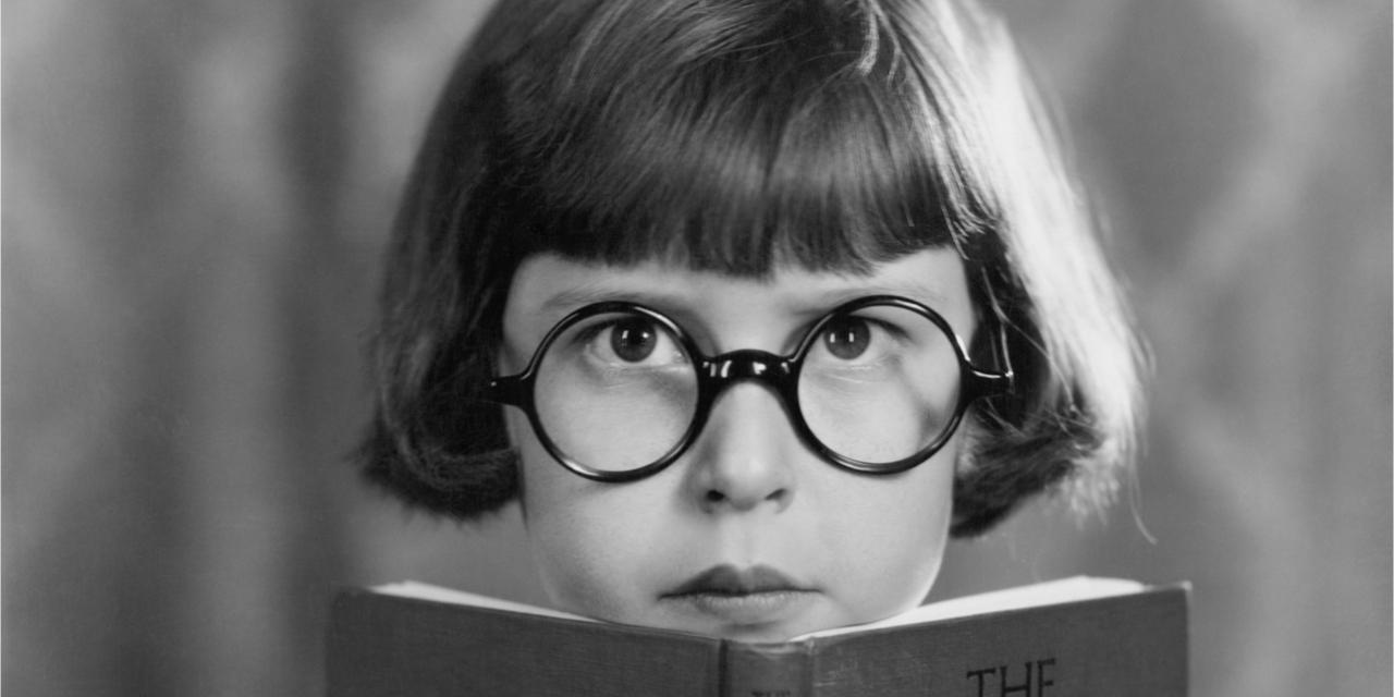 Serious reader.