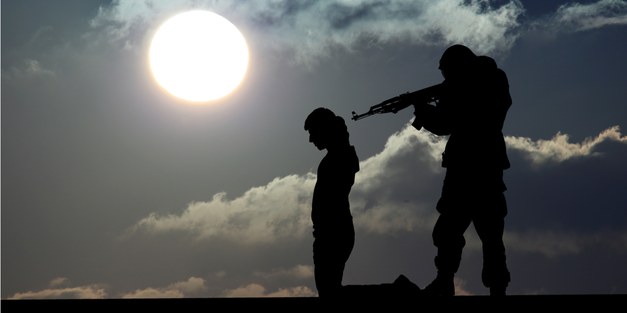 Jihadist executing prisoner