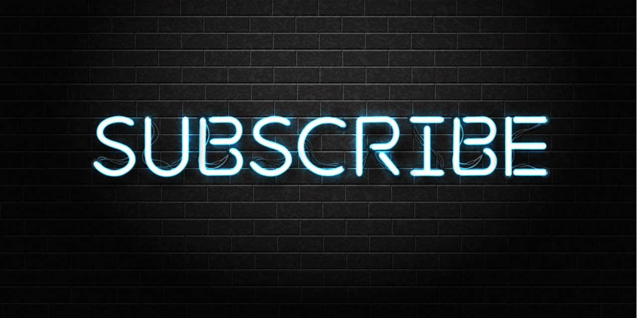 Subscribe sign neon