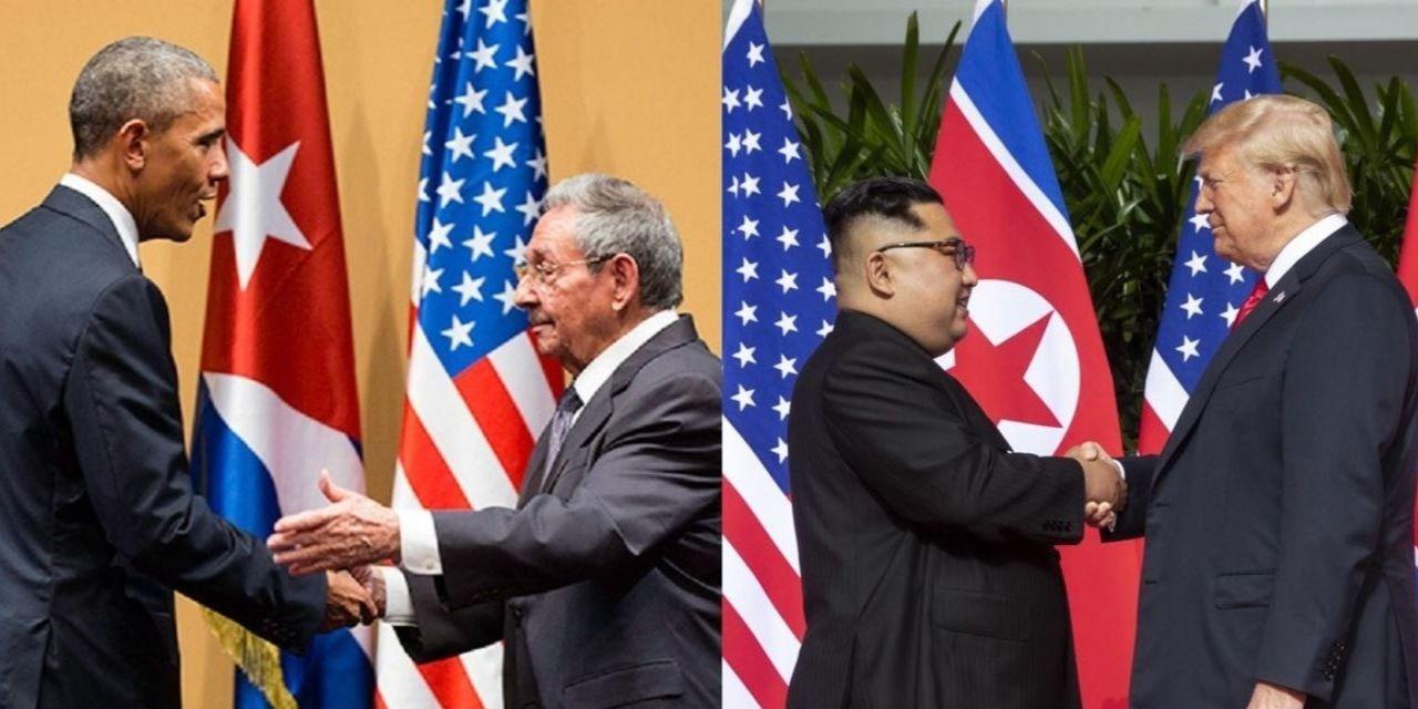 Obama Castro Trump Kim handshakes
