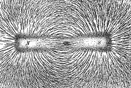 """Magnetic field of a bar magnet"" by Newton Henry Black / Public domain"