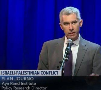 Elan Journo at Soho Forum debate on Israeli-Palestinian conflict