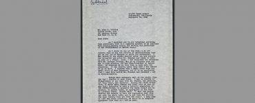 Front page of letter by Ayn Rand