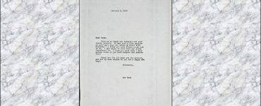 Letter from Ayn Rand to Hal Wallis
