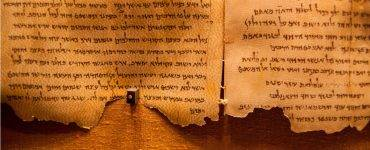 Dead Sea Scrolls on display at the caves of Qumran