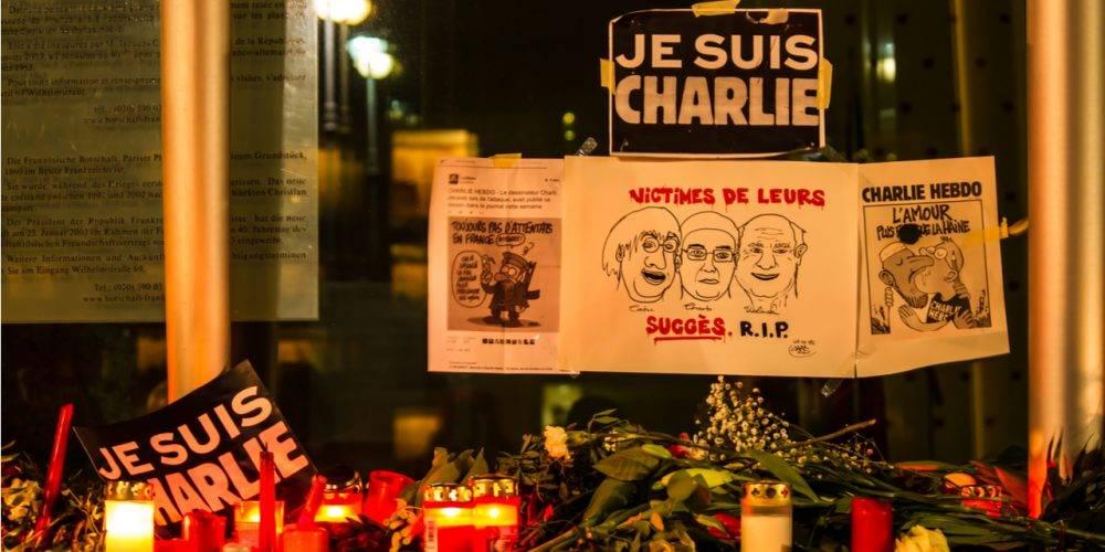 Charlie Hebdo informal memorial