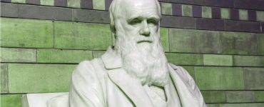 Charles Darwin - green tinted background