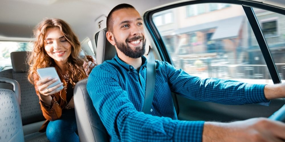 Uber driver and ride - gig economy ab5