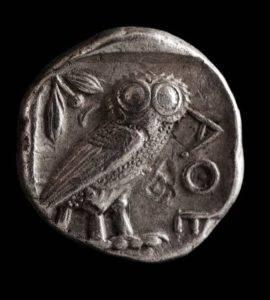 Athena owl Greek coin