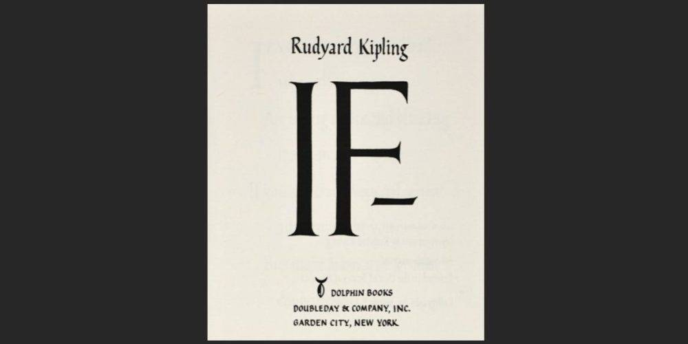 Cover of If by Rudyard Kipling