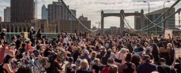 Black Lives Matter protest crowd