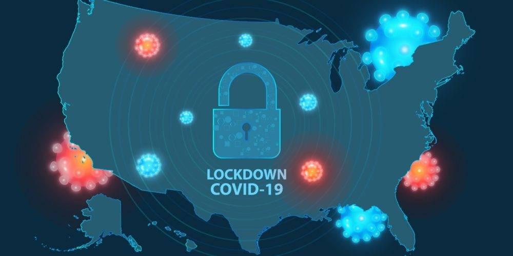 US map covid lockdowns