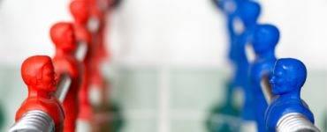 Foosball image of red-blue partisanship