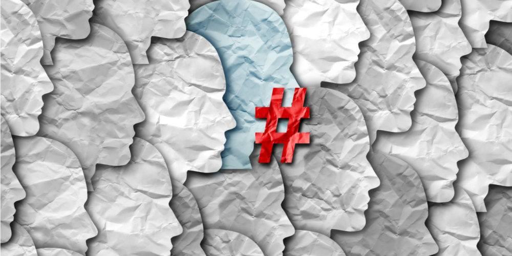 Cancel culture hashtag symbol
