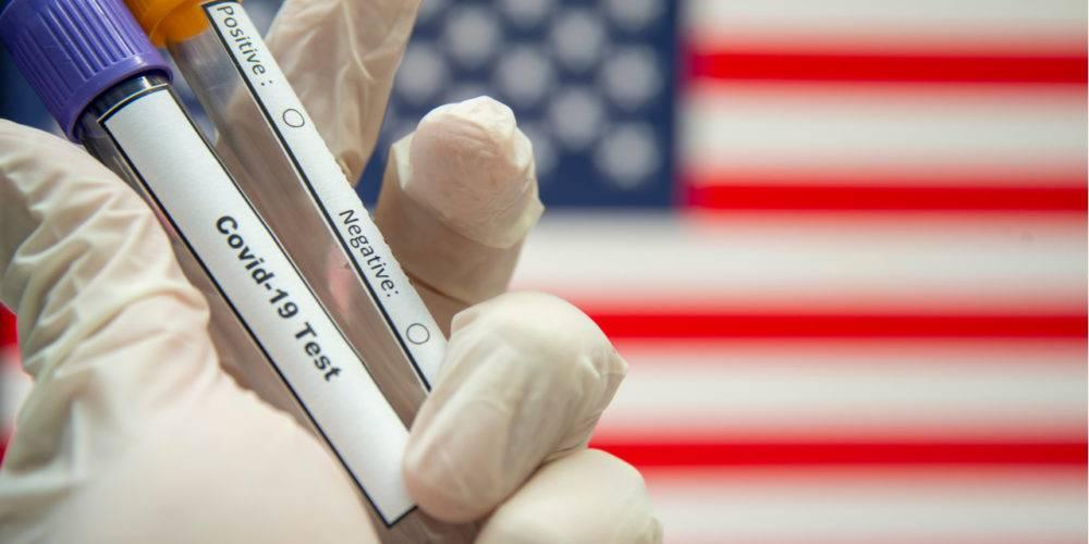 Covid-19 testing American flag