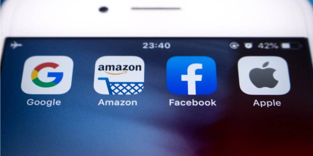 Big tech antitrust logos