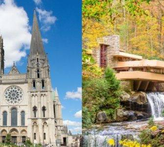 Chartres-Fallingwater collage