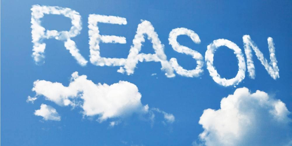 Reason written in clouds