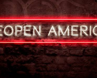Reopen America sign