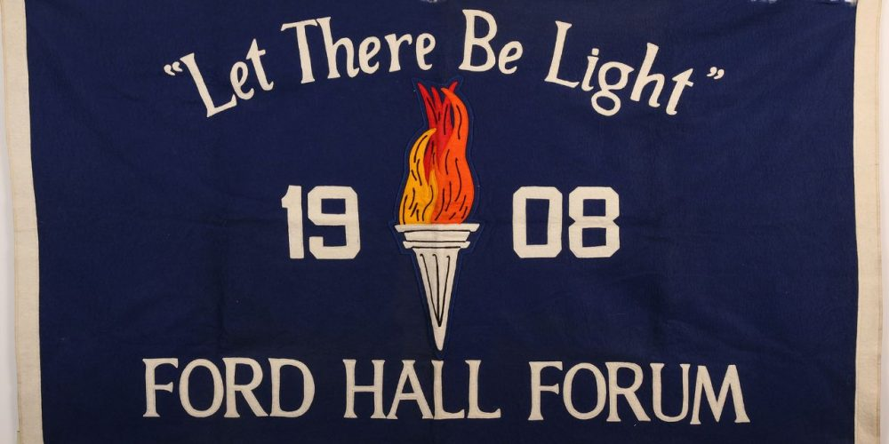 Ford Hall Forum felt banner