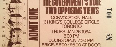 Debate 1984 ticket