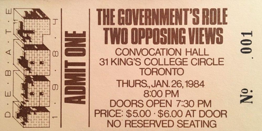 Debate 1984 ticket