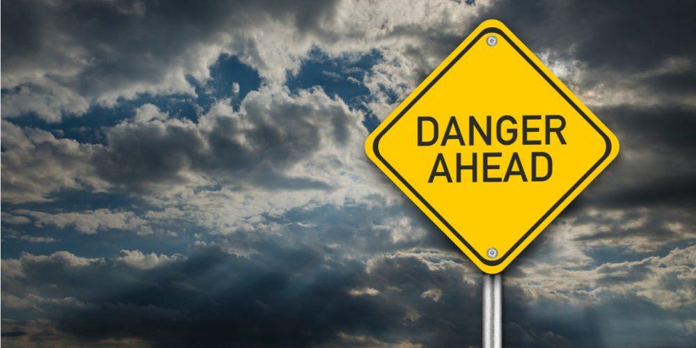Danger Ahead sign