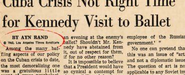 Ayn Rand LA Times Cuba crisis headline